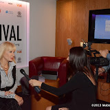 WWW.ENTSIMAGES.COM -  Carol Cleveland interviewed by  Claire and Anthony Bueno - Premier Scene   at         Raindance Film Festival: The Search For Simon - UK film premiere / Q&A at Apollo Cinema, 19 Regent Street, London, October 1st 2013                                             Photo Mobis Photos/OIC 0203 174 1069