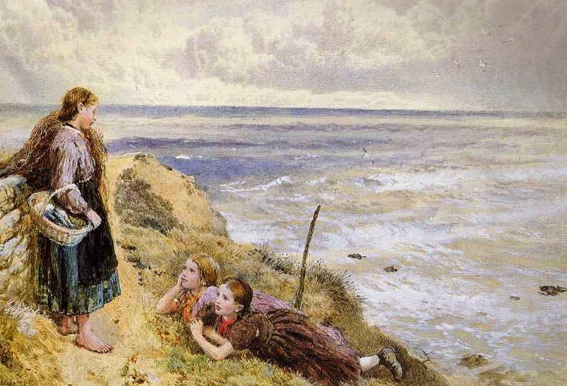 Myles Birket Foster - On Cullercoats Cliffs