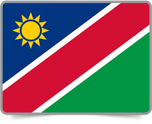 Namibian framed flag icons with box shadow