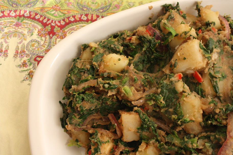 Saag Aloo and Kachumber Salad