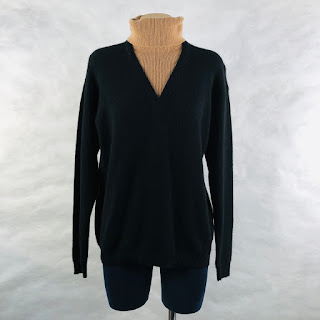 Calvin Klein Collection Cashmere Double Collar Sweater