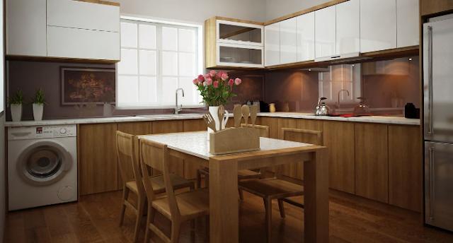 Mẫu thiết kế nội thất nhà bếp thông minh