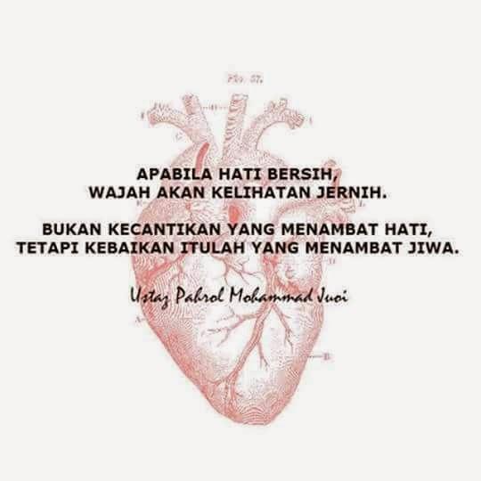 Apabila hati bersih...