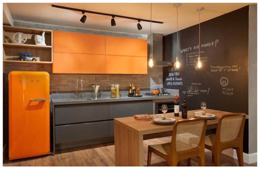cozinha laranja