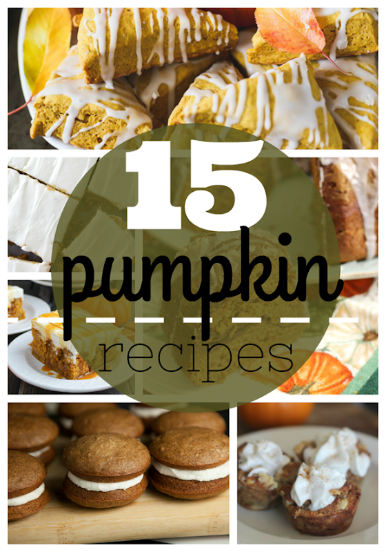 15 Pumpkin Recipes at GingerSnapCrafts.com #pumpkin #recipes