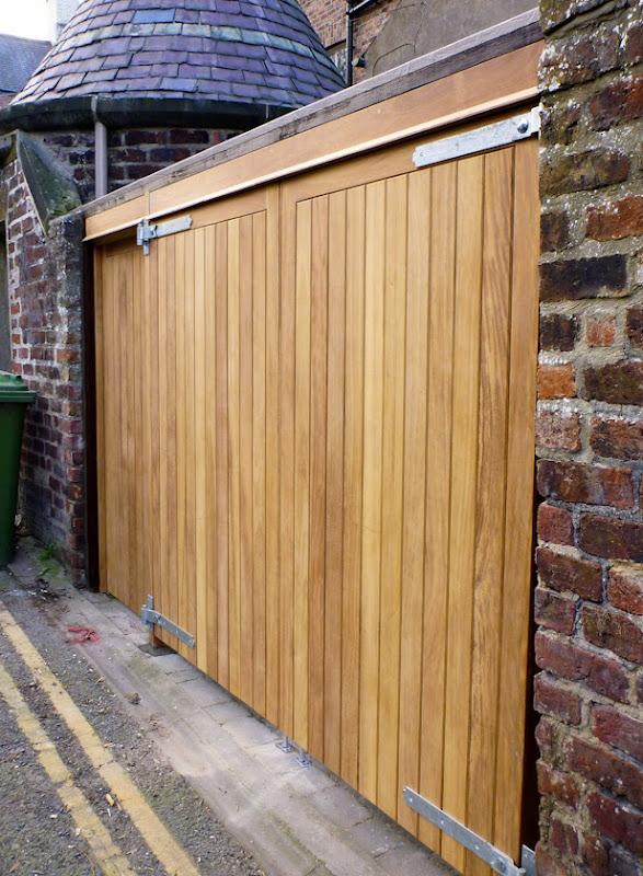 Yard Doors In Iroko & Iroko Garage Doors \u0026 Bespoke Hardwood Garage Doors