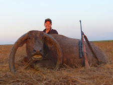 Sheree hunted this unusual but impressive buffalo cow with her 9.3x62 Mauser custom rifle. It is a great trophy.
