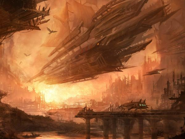 Arrival Of Space Boats, Fiction 1