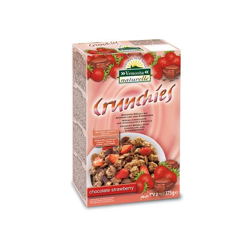 cereal crunchies chocolate y fresa 375gr