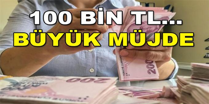 MÜJDE! SGK, SSK, İşçi Memur ve Bağ-Kur Emeklilerine 30 Bin Lira ile 100 Bin Lira Arası Ödeme