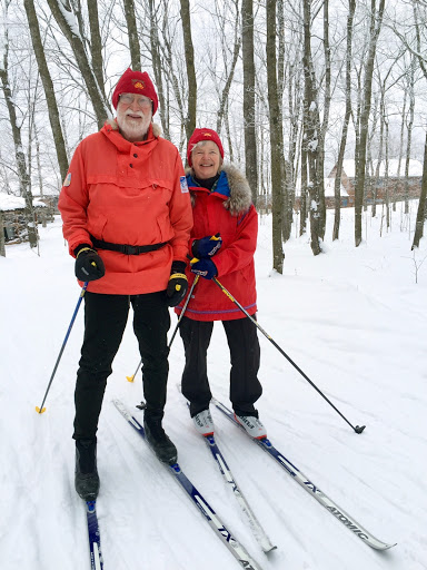 Robert and Maryann heading out for a afternoon ski