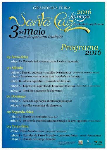 Programa – Feira de Santa Cruz – 3 de Maio de 2016 – Lamego