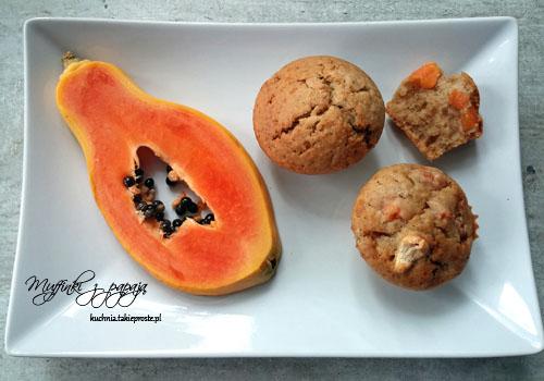 muffinki z papaja