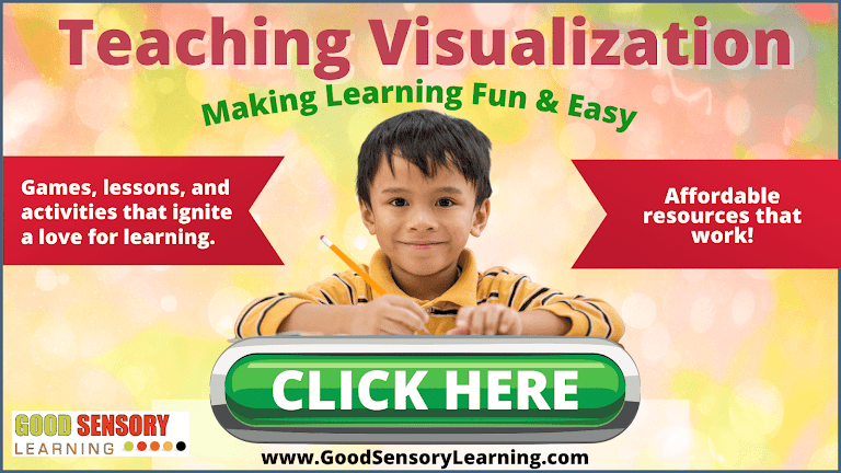Happy student learning to visualize