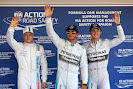 Top 3 qualifyers: 1. Hamilton 2. Rosberg 3. Bottas