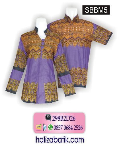 Desain Baju Batik Modern, Model Baju Terbaru, Contoh Batik, SBBM5