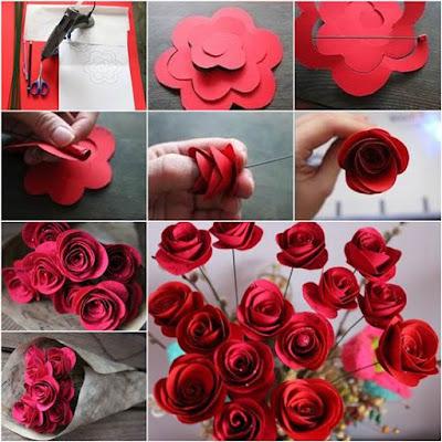para las rosas necesitars cualquier clase de papel cartulinas papel bond papel peridico hojas de libreta etc cualquier papel sirve solo evita - Hacer Rosas De Papel