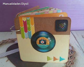 álbum scrap silueta instagram