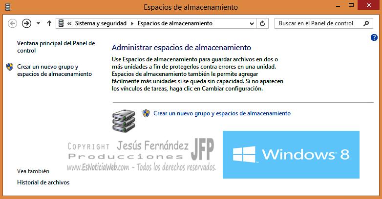 Espacios de Almacenamiento en Windows 8