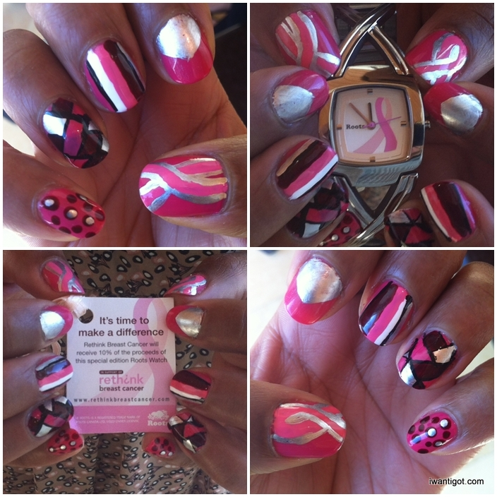 Battle Pink aka Nail Art for Rethink Breast Cancer