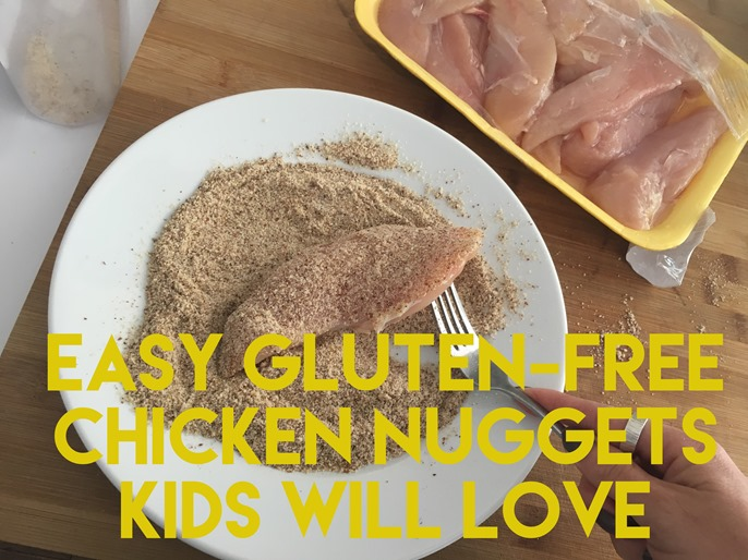 Simple gluten-free, paleo chicken nuggests that both adults and kids will love!