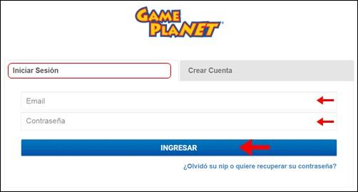 Abrir cuenta Game Planet - 762