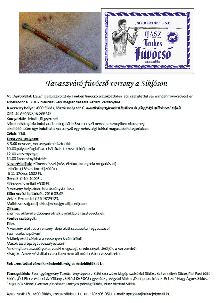 Fúvócső verseny Siklóson