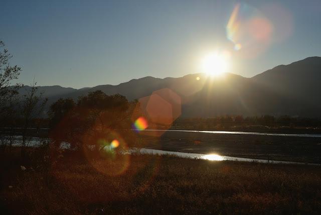 ニコンD610 身近な風景 櫛形山 夕日