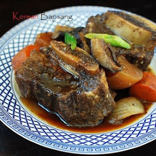 Slow Cooker Galbijjim (Korean Braised Short Ribs) Recipe