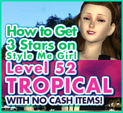 Style Me Girl Level 52 - Tropical Paradise - Victoria - Stunning! Three Stars