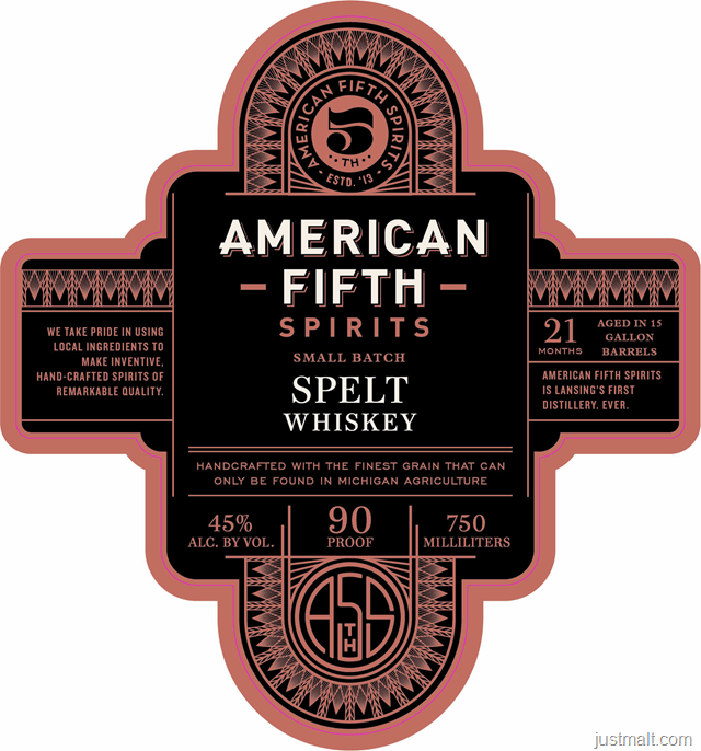 American Fifth Spirits Small Batch Spelt Whiskey