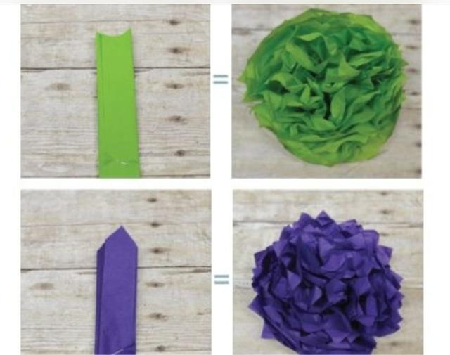 Como hacer pompones de papel de seda | LA CÓMODA ENCANTADA
