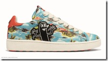 Keith Haring Hawaiian C101 Low Top Sneaker in Hawaiian Blue (G2243)