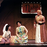 Eileen McCashion, Rita Russell and Christine Boice Saplin in ON THE VERGE - January/February 2000.  Property of The Schenectady Civic Players Theater Archive.
