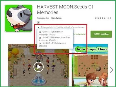 sudah cukup usang kita menciptakan postingan wacana Harvest Moon Masalah Smartphone Android Tidak Kompatibel untuk Bermain HM SoM