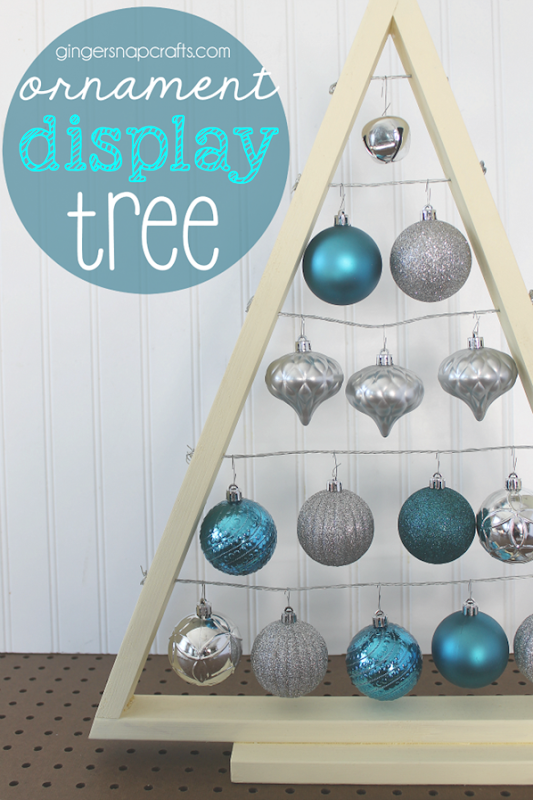 Ornament Display Tree at GingerSnapCrafts.com