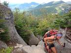 Hiking up Rocks