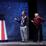 """Tim Orcutt and Cristine M. Loffredo in """"Foreplay: Or the Art of the Fugue"""" as part of THE IVES HAVE IT - January/February 2012.  Property of The Schenectady Civic Players Theater Archive."""