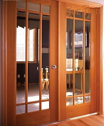 cửa kính gỗ, mẫu cửa kính gỗ 2 cánh