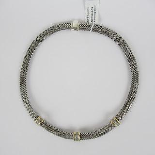 Phillip Gavriel Sterling & 18K Necklace