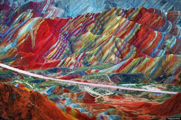 جبال القزح الصين