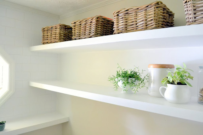 thin floating shelves - Finally! How To Create Long, Deep Shelves That Aren't Bulky