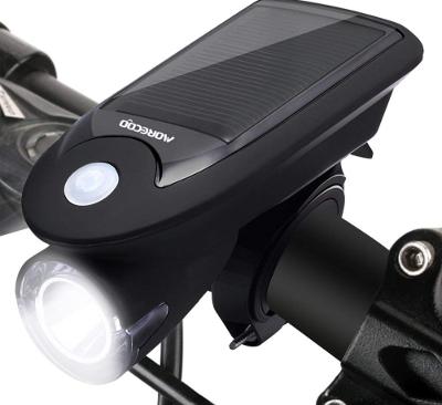 自転車LEDライト ヘッドライト USB充電・ソーラー充電