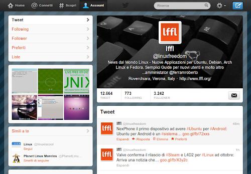 Twitter - pagina di lffl