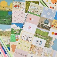 sticker giấy trang trí notebook, sổ tập
