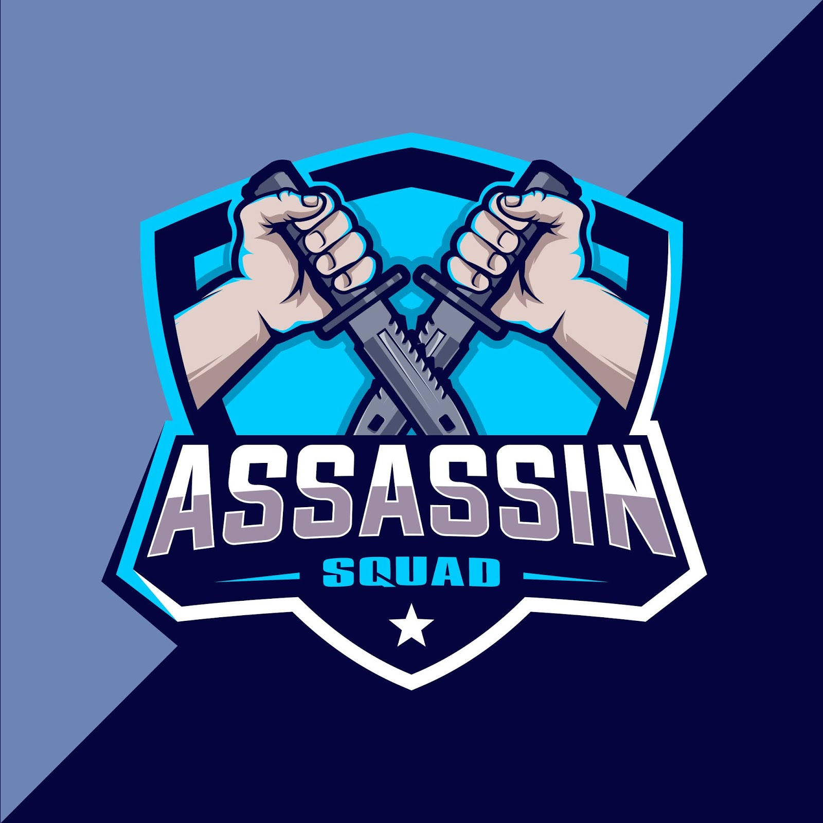 Assassin Squad Esport Logo Design Free Download Vector CDR, AI, EPS and PNG Formats