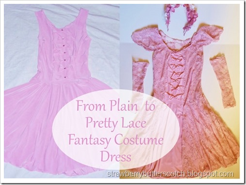 From Plain to Pretty Lace Fantasy Costume Dress