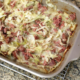 Quick and Easy Corned Beef and Cabbage Casserole.