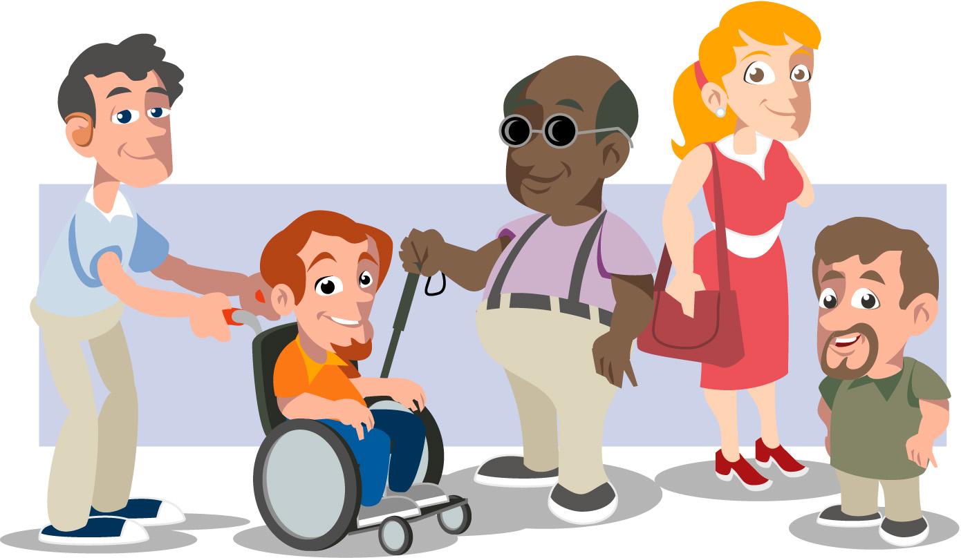inclus u00e3o recursos humanos inclus u00e3o social handicap free vector handicapped logo vector