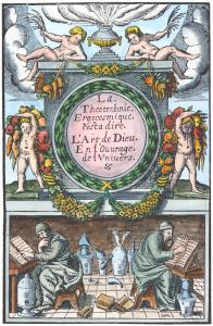 Frontispiece From Annibal Barlet Le Vray Et Methodique Cours Paris 1651, Alchemical And Hermetic Emblems 1
